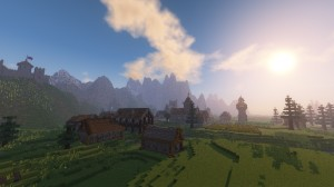 Herunterladen Medieval Village with Castle zum Minecraft 1.12.2