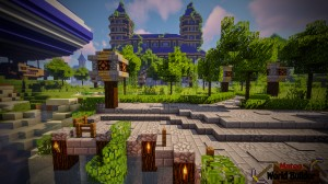 Herunterladen Castle and Gladiator Arena zum Minecraft 1.13.2