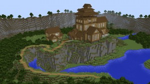 Herunterladen Cliffside Wooden Mansion zum Minecraft 1.12